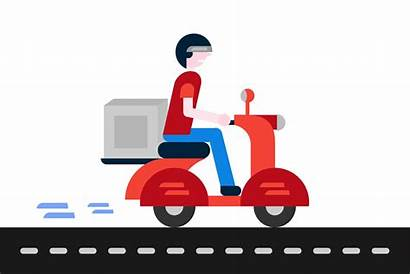 Delivery Vector Boy Courier Logistics Platform