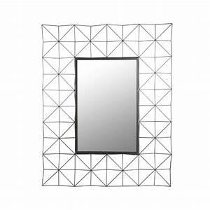 Miroir Rectangulaire Mural : miroir mural rectangulaire 100cm noir ~ Teatrodelosmanantiales.com Idées de Décoration