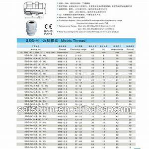 Metric Cable Gland Size Chart Ip68 Pg Thread Cable Glands Buy Cable Glands