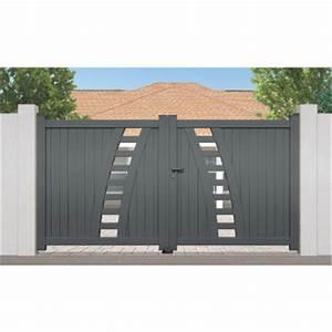 Portail Alu 4m : portail aluminium premier prix rayol 2 vantaux ~ Voncanada.com Idées de Décoration