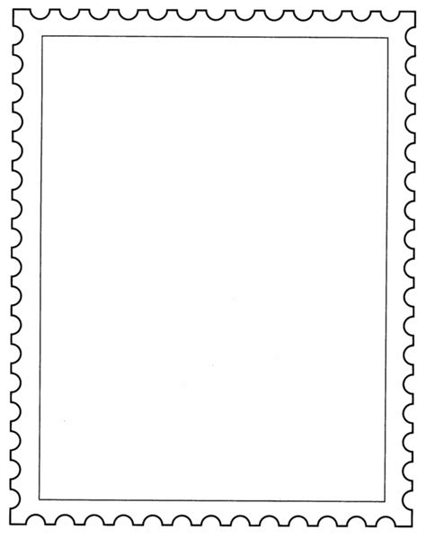 postage stamp template school posta