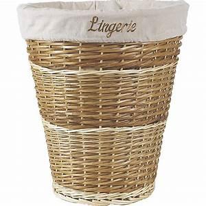 Panier à Linge Gifi : panier linge en clisse buff et osier blanc kli2160c ~ Dailycaller-alerts.com Idées de Décoration