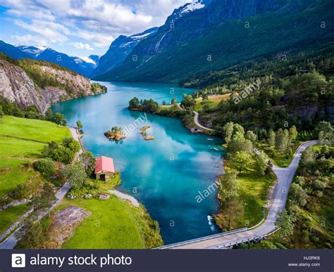 Beautiful Nature Norway Natural Landscape Aerial