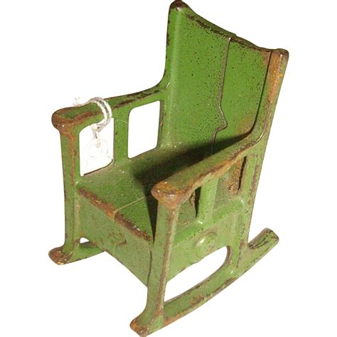 kilgore cast iron rocking chair doll house furniture from