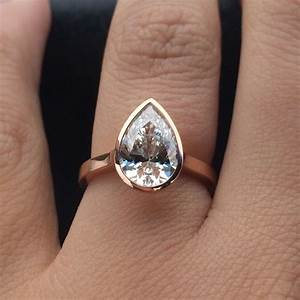 the perfect rose gold pear shaped diamond bezel engagement With pear shaped wedding ring