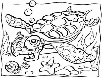 Coloring Ocean Pages Animals Printable
