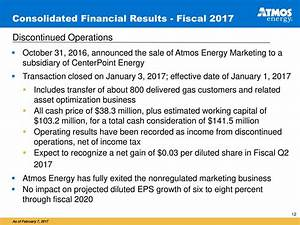 Atmos Energy Corporation 2017 Q1 - Results - Earnings Call ...