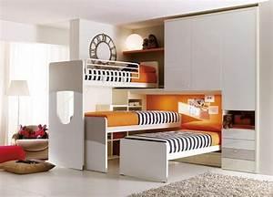 Möbel Für Kinderzimmer : m bel f r kinderzimmer bett mit paravent kopfteil idfdesign ~ Indierocktalk.com Haus und Dekorationen