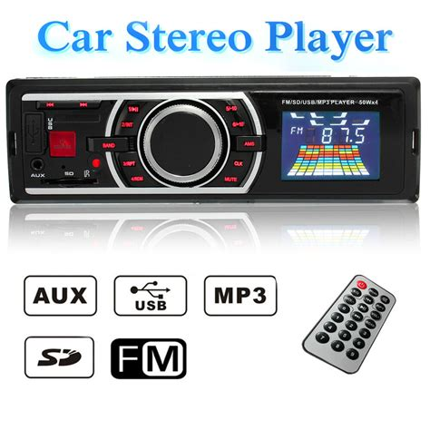 Usb Car Stereo by 12v Car 1 Din In Dash Lcd Audio Stereo Radio Sd Usb Mp3