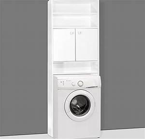 Waschmaschinenschrank Mit Türen : waschmaschinenschrank badezimmerschrank f r waschmaschine 195 x 63 x 20 cm farbe wei 3 ~ Eleganceandgraceweddings.com Haus und Dekorationen