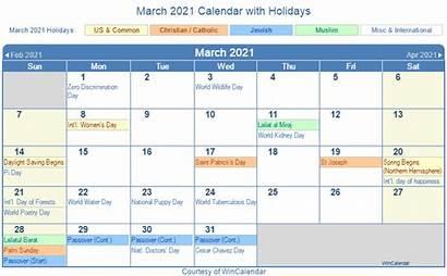 Calendar 2021 March Holidays Printable Festivals Holiday