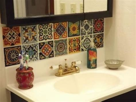 decorate  bathroom  mexican style