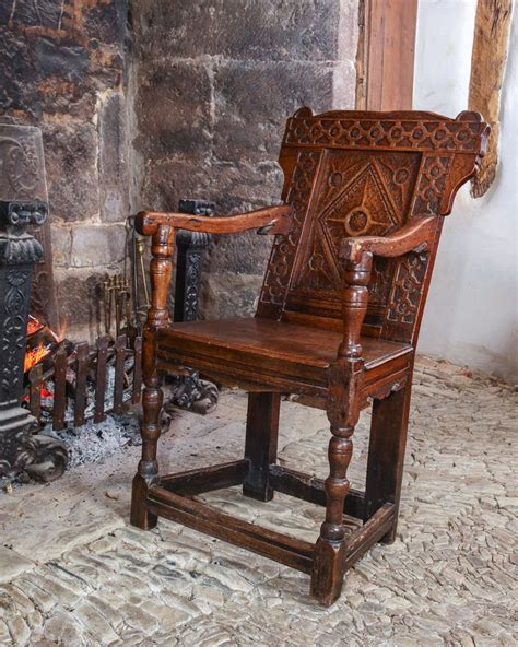 Oak Armchair by Elizabethan Joined Oak Armchair Circa 1580 Marhamchurch