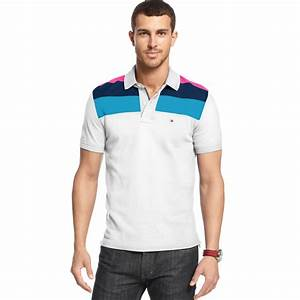Lyst - Tommy hilfiger Slim Fit Marco Polo Shirt in White ...