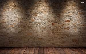 Brick wall and wood floor HD wallpaper #1
