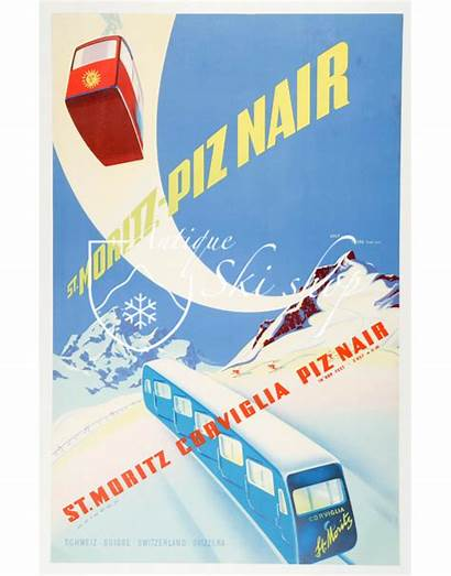 Moritz Poster Piz Nair Ski Prints Posters