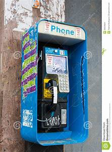 Colorful Pay Phone In A City Editorial Stock Image - Image ...