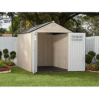 rubbermaid storage sheds at sears rubbermaid 1825260 outdoor resin storage shed 7 x 10 6 quot
