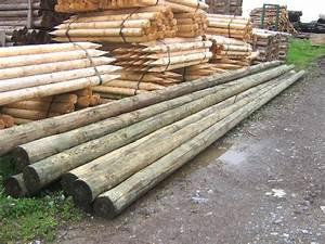 Poteau Bois Rond 3m : poteau bois rond poteau bois rond poteau rond en bois 6 ~ Voncanada.com Idées de Décoration