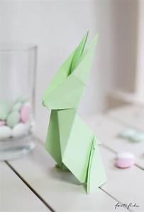 Origami Osterhase Faltanleitung Einfach : origami hase eine faltanleitung f r euer ganz pers nliches osterh schen feiert glich das ~ Watch28wear.com Haus und Dekorationen