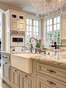 beige cabinets new home interior design ideas chronus With best brand of paint for kitchen cabinets with wall art panel