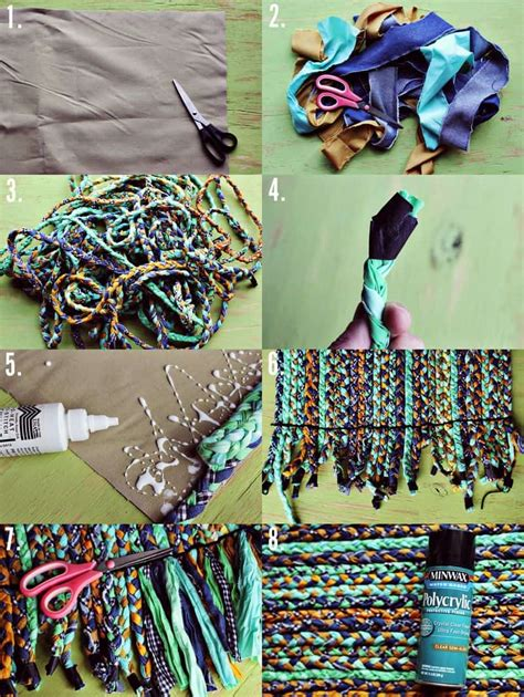 how to make a braided rug how to make fabulous rainbow braided rugs using clothing