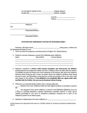printable temporary guardianship forms templates