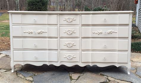 White Painted Distressed Cottage Dresser