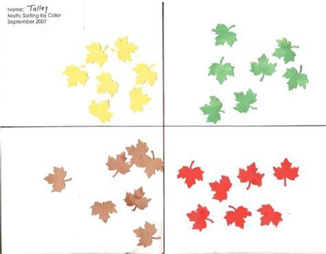 pre k math portfolios assessment colors and paper