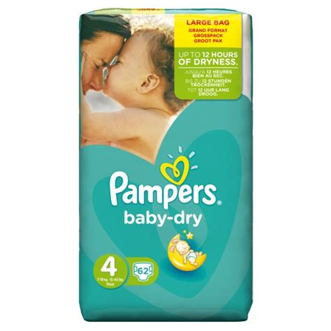 pers size 4 nappies weight pers baby size 4 large pack 62 nappies groceries tesco groceries