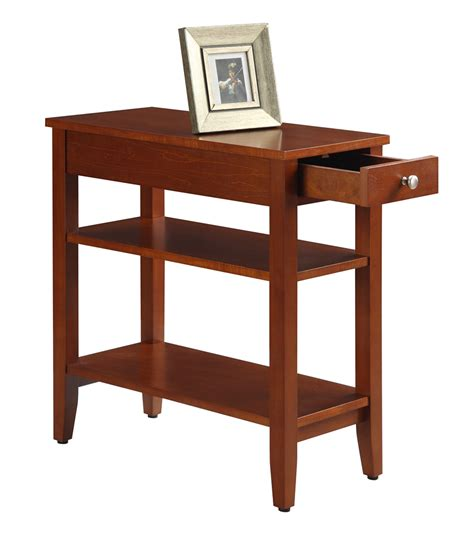 3 drawer end table american heritage three tier end table with drawer 7107159ch