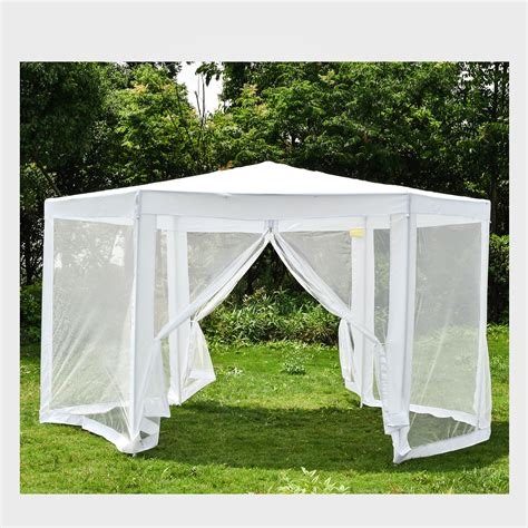 hexagonal gazebo outdoor patio canopy  mosquito net