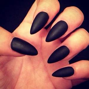 Matte black claws #Nails | My Style | Pinterest