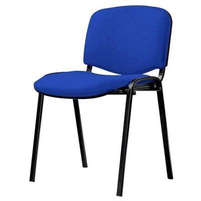 chaise sans pied chaise visiteur 4 pieds en tissu bleu sièges et