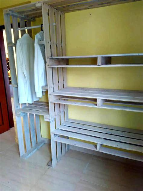 meuble cuisine en palette pallet closet wardrobe made from pallets 99 pallets