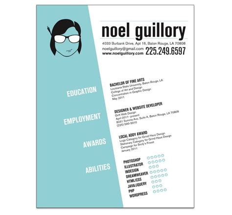 Graphic Resume by Graphic Design Resume Search Digital Design