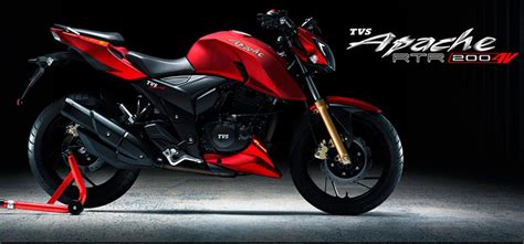 price  tvs apache rtr  listed   official website