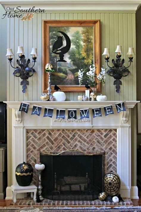 top  easy halloween mantel decor cheap party holiday