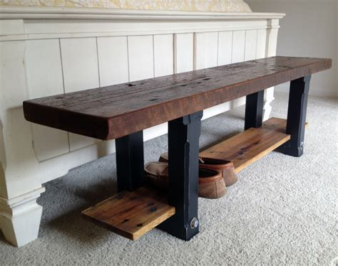 remarkable reclaimed wood benches