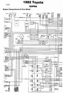 Toyota Supra 1982 Wiring Diagrams