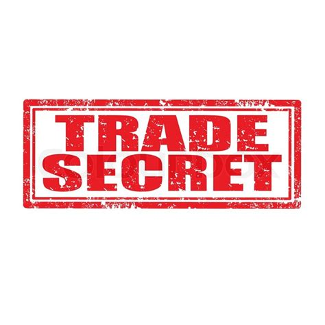 trade secret stamp stock vector colourbox
