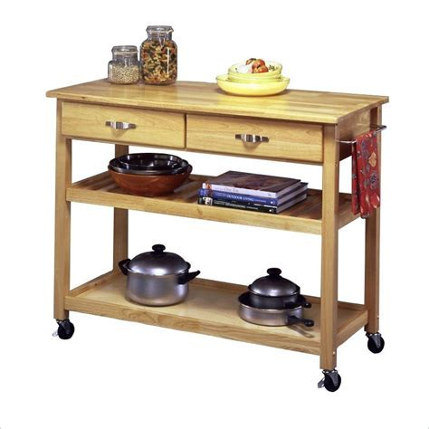 Solid Wood Kitchen Island Work Table   5216 95   Home Styles