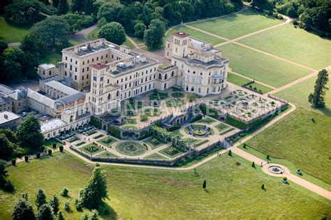 mansion home plans aerial view osborne house east cowes isle of wight