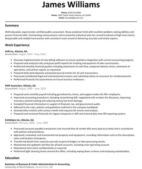 Accounting Skills Resume by Accountant Auditor