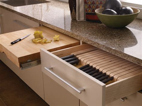 Cutting Board & Knife Block   Contemporary   Kitchen