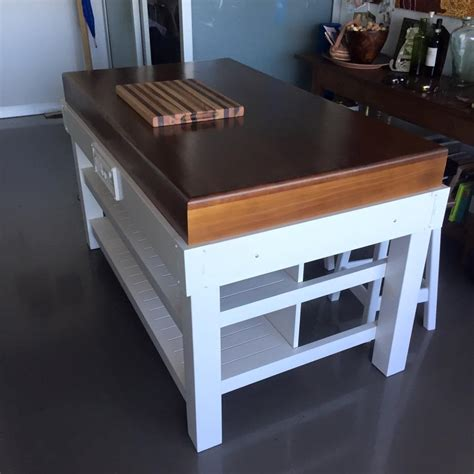 kitchen island with table butchers block islands table trolley blocks 5230