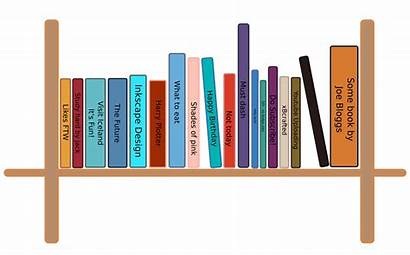 Bookshelf Clipart Bookcase Drawing Shelf Cartoon Library