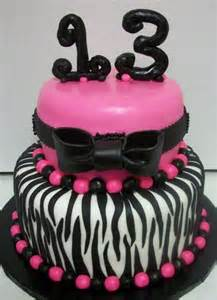 Pink 13th Birthday Cake