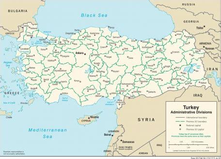 Ģeogrāfiskā karte - Turcija - 1,826 x 1,309 Pikselis - 457 ...