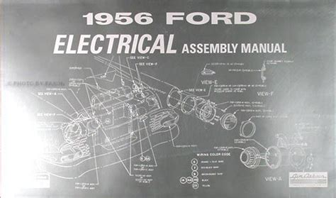 car repair manual download 2006 ford thunderbird electronic toll collection 1956 ford car electrical assembly manual 56 wiring diagrams factory schematics ebay